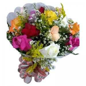 Buque de Rosas Coloridas