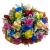 Buque de rosas coloridas com 24 rosas