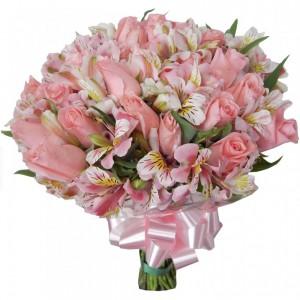 Buquê de Astromelia e Rosas