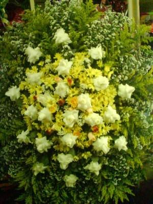 Coroa de Rosas e Flores do Campo