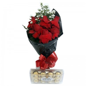 Combo de Rosas e Ferrero